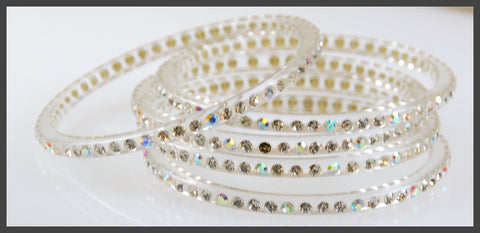 Clearly Crystal bangle set