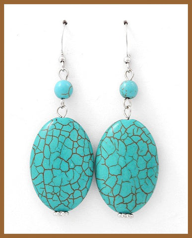 Turquoise Drop Earrings - Large