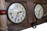 "Upcycled Old Door World Time Clock ""Horizontal"" $919.99"