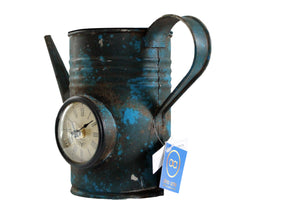 "Upcycled Iron Jug Clock ""Blue"" $121.99"
