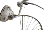 "Upcycled Iron Bicycle Clock ""White"" $589.99"