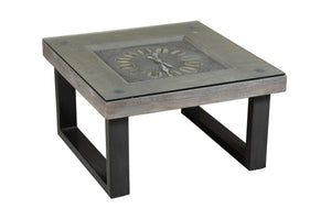 Wooden Coffee Table with Clock (CT-001)