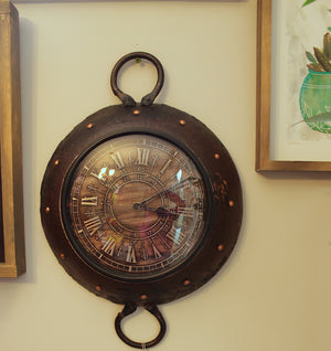 Upcycled Iron Wok Clock $217.99