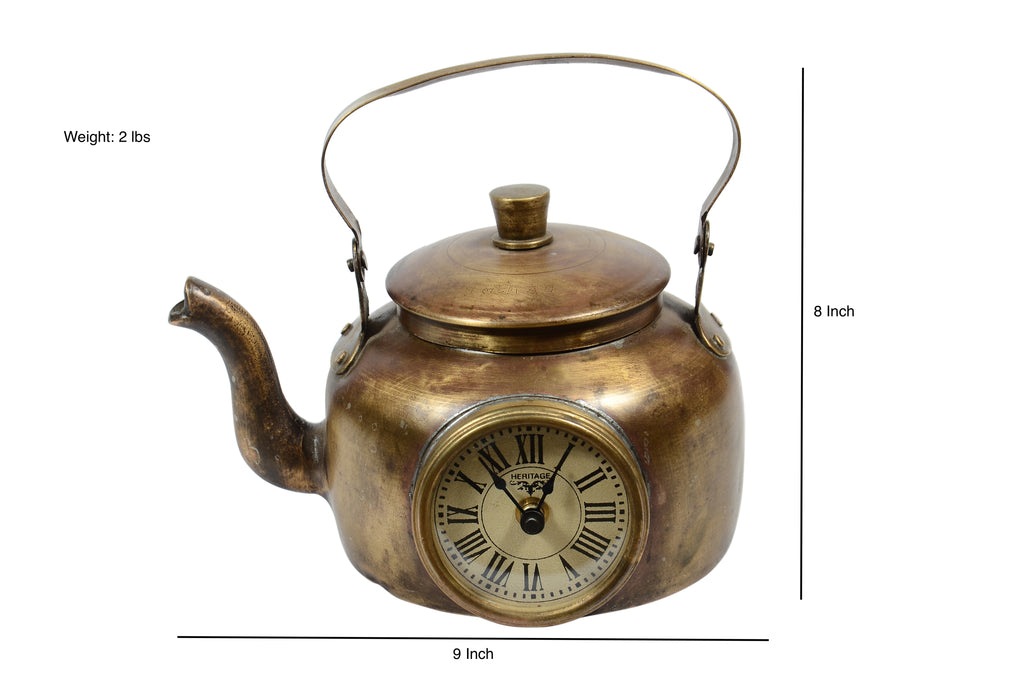 Upcycled Brass Kettle Clock $149.99