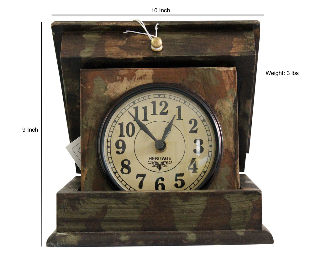 Folding Box Clock with Hand Painting $159.99