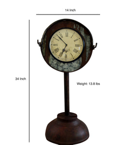 Upcycled Iron Bucket Floor Clock $256.99
