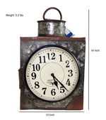 Upcycled Iron Container Clock $229.99