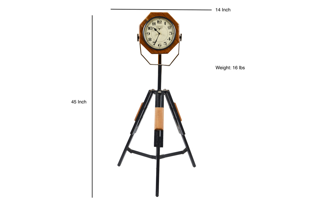 Natural Teak Finish Clock on Tripod $629.99
