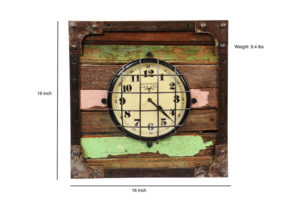 Upcycled Wooden Clock $186.99