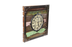 Upcycled Wooden Clock (FS-1615)