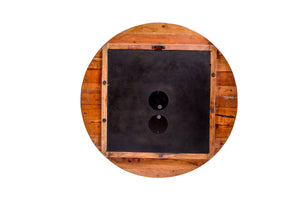 Upcycled Wooden Clock with Seconds Dial (FS-1661)