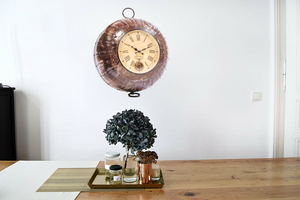 Upcycled Iron Wok Clock $559.99