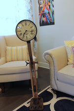 Wooden Floor Lamp Clock with Bicycle Chain $449.99