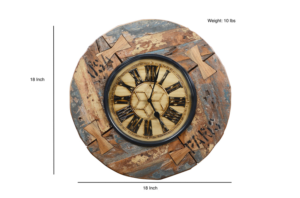 Upcycled Wooden Clock $192.99