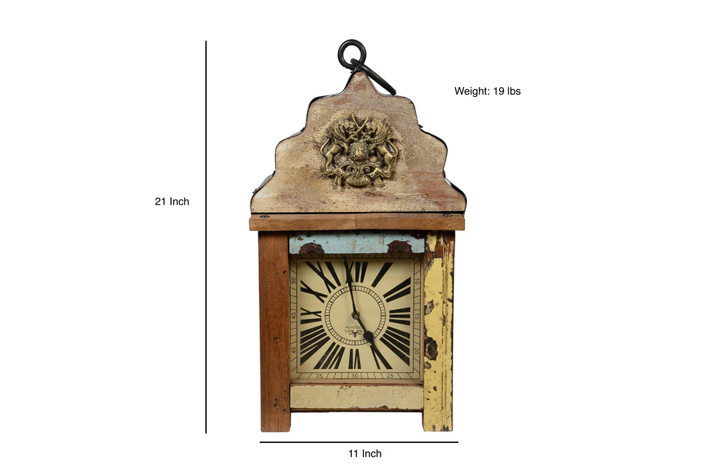 Upcycled Wooden Lantern 3-Sided Clock $346.99