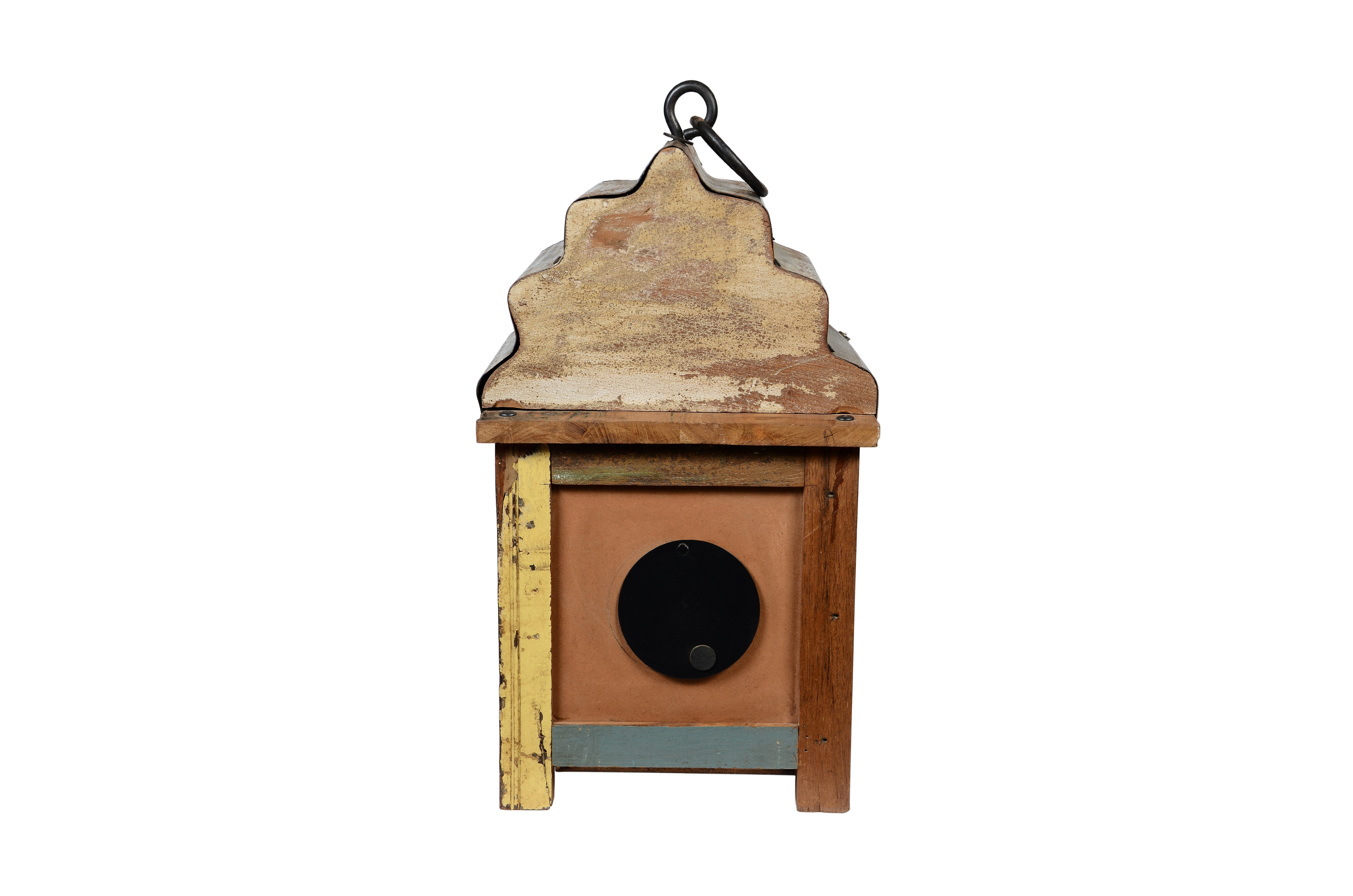 Upcycled Wooden Lantern 3-Sided Clock (FS-1919)