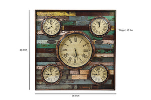 Upcycled Wooden World Time Clock $659.99