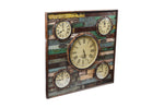 Upcycled Wooden World Time Clock (FS-1985)