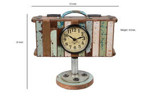 Upcycled Brick Mold Clock with Wooden Base $145.99