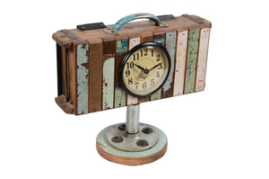 Upcycled Brick Mold Clock with Wooden Base (FS-2011)
