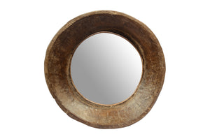 Upcycled Old Wooden Bowl Mirror (FS-2154)