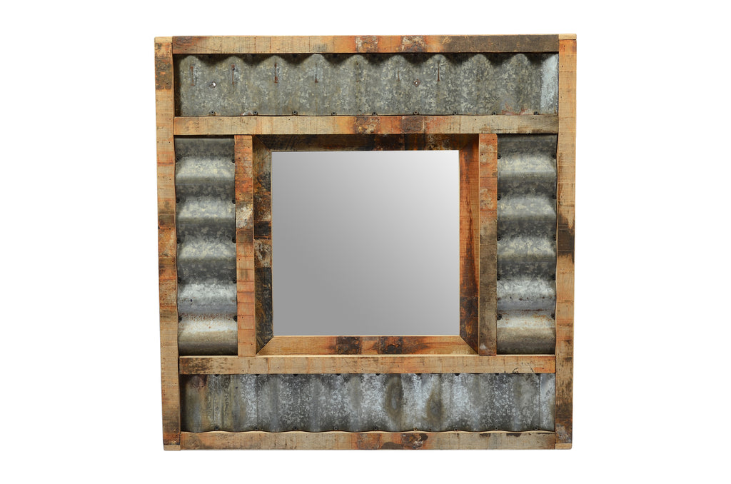 Upcycled Old Teak Wood Mirror (HH-007)