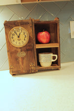Upcycled Brick Mold Clock with 2 Shelves $119.99