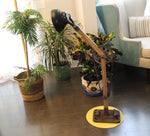 Wooden Floor Lamp Clock with Bicycle Chain $469.99
