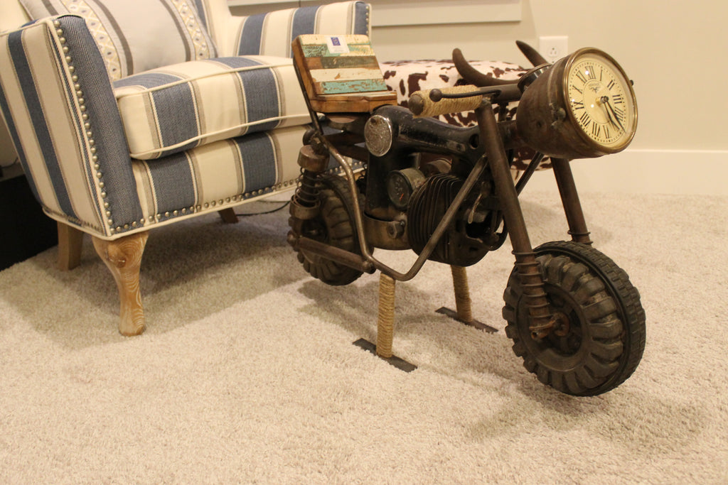 Upcycled Sewing Machine Motor Bike Clock $389.99