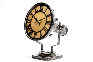 Upcycled Iron Rusty Finish Lamp Style Clock $319.99