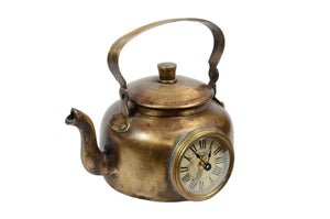 Upcycled Brass Kettle Clock $222.99