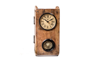 Upcycled Brick Mold Clock with Pendulum (FS-1329)