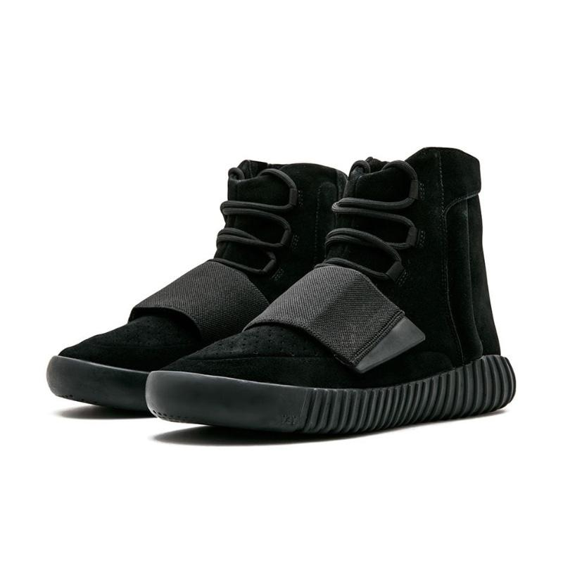 "Yeezy Boost 750 ""Triple Black"" Sneakers 