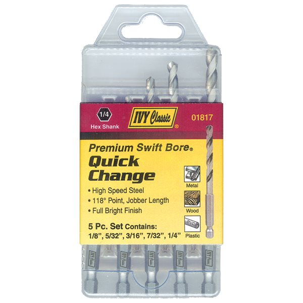 5 Pc. Quick Change Drill Set