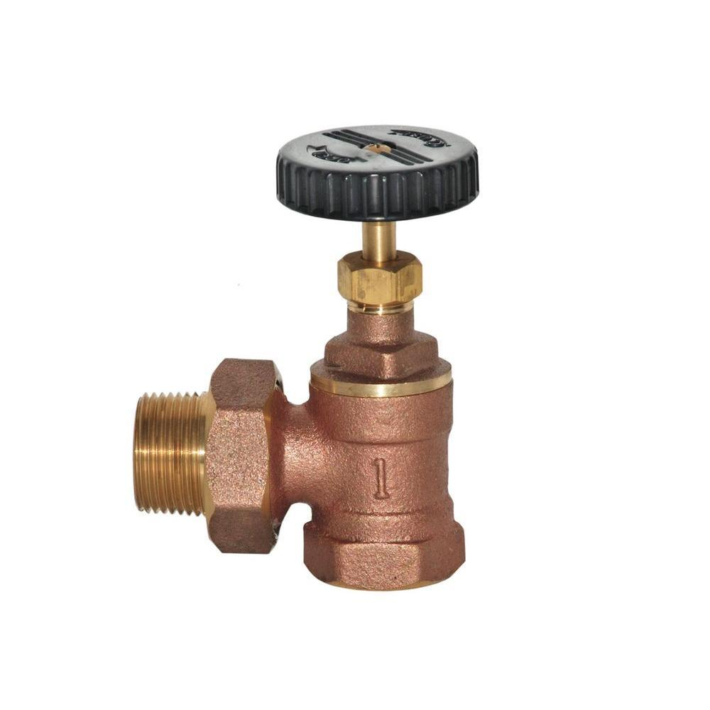 1'' Brass Radiator Angle Valve Other Plumbing Wal-Rich