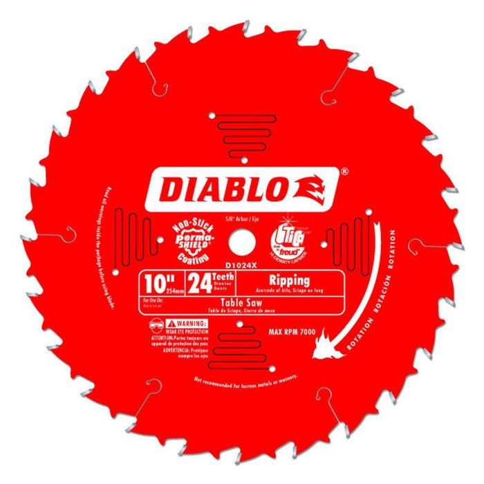 10 X 24 RIPPING/FRAMING Circular Saw Blades Diablo