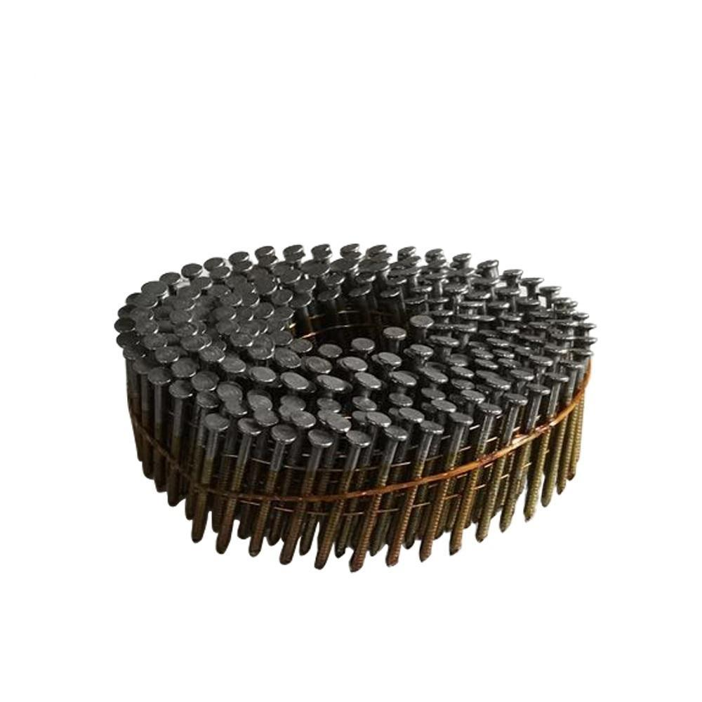 15 Degree Full Round-Head Wire Coil Ring Shank Coil Nail Nails Meite
