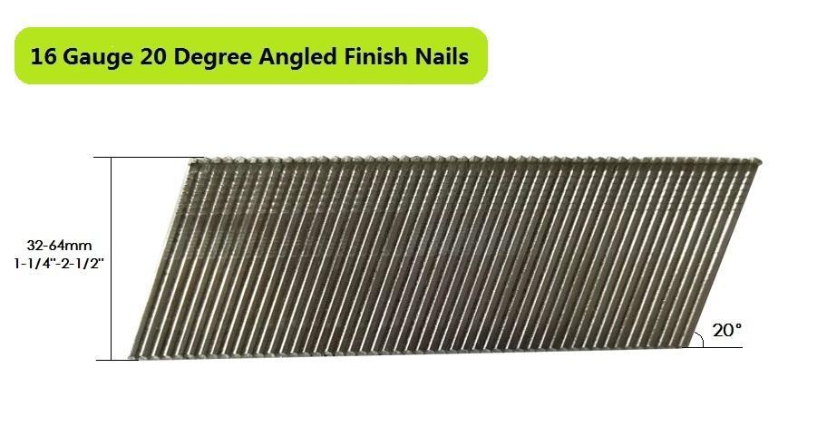 16 Gauge 20 Degree Angled Finish Nail Nails Meite