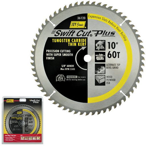 "10"" 60T Swift Cut Plus Carbide Blade"
