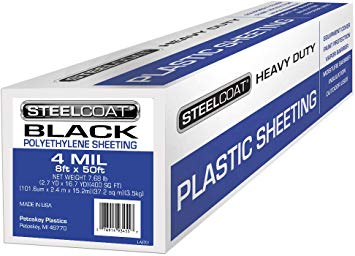 Steelcoat Clear Plastic Film Sheeting 10' x 100' 4MIL