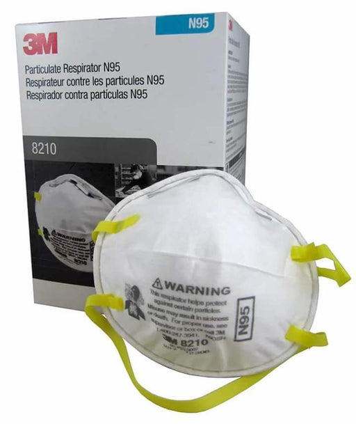 3M 8210 Paint Sanding Dust Particulate Respirators Mask, N95, 20-Pack