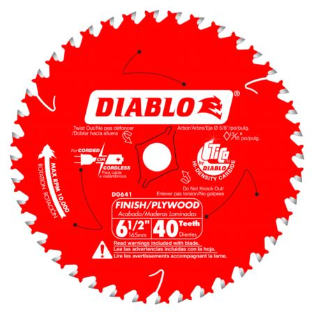 6-1/2 X 40 FINISHING Circular Saw Blades Diablo