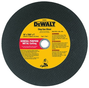 "14"" x 7/64"" x 1"" General Purpose Chop Saw Wheel-Metal (Bulk)"