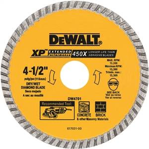"4-1/2"" Dry Cut Diamond Blade"
