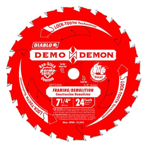 7-1/4 24T DEMO DEMON Circular Saw Blades Diablo