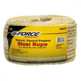 "G-Force 1/4"" x 100' Twisted Sisal Rope"