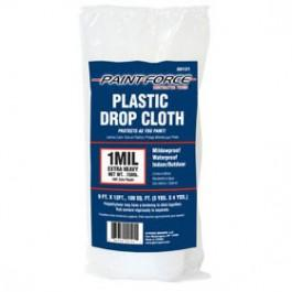 9 ft. x 12 ft. 1 mil Plastic Drop Cloth Workwear Pacoa