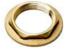 Basin Cock Locknut Brass