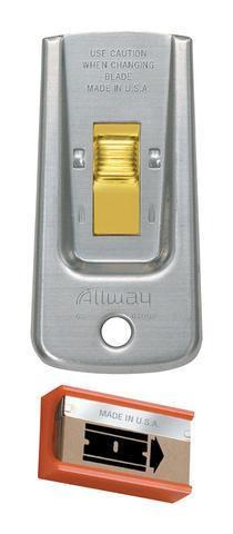 Allway Tools GS Safety Glass Scraper w/ 5 Blades Hand Tools Altium Supply Co.
