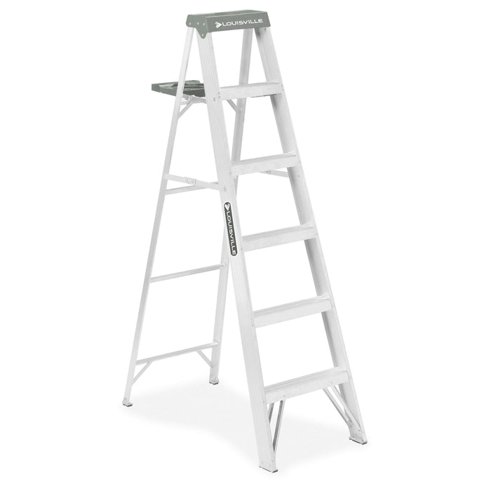 AS4006 6' Type II Aluminum Step Ladder Accessories Louisville